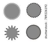 set of vector starburst ...   Shutterstock .eps vector #789226192