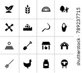 agriculture icons. vector...