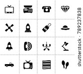 retro icons. vector collection...