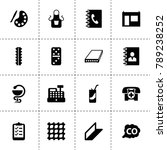 gray icons. vector collection...