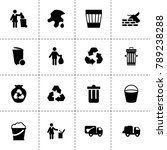 trash icons. vector collection... | Shutterstock .eps vector #789238288