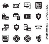 solid black vector icon set  ... | Shutterstock .eps vector #789238522