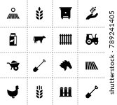farm icons. vector collection...