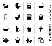 bath icons. vector collection...