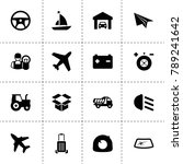 transportation icons. vector... | Shutterstock .eps vector #789241642
