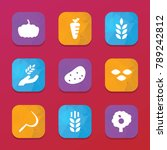 harvest icons. vector...