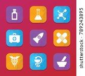 pharmacy icons. vector...