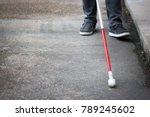 well dressed blind man walking... | Shutterstock . vector #789245602