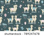 seamless pattern with cute... | Shutterstock .eps vector #789247678