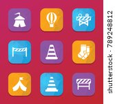 striped icons. vector...