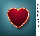 heart light frame with electric ... | Shutterstock .eps vector #789250222