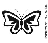 unusual butterfly icon. simple... | Shutterstock . vector #789252436