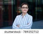 older business woman headshot....   Shutterstock . vector #789252712