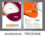 business flyer design template. ... | Shutterstock .eps vector #789254368