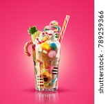 colourful  festive cocktail... | Shutterstock . vector #789259366