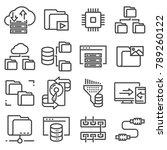 set of data management related... | Shutterstock .eps vector #789260122
