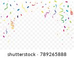 many falling colorful tiny... | Shutterstock .eps vector #789265888