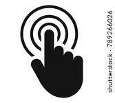 hand cursor web icon. simple... | Shutterstock . vector #789266026