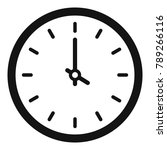 clock time icon. simple... | Shutterstock . vector #789266116
