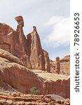 arches national park desert rock  vista moab utah usa - stock photo