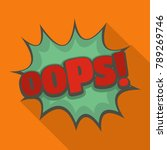 comic boom oops icon. flat... | Shutterstock . vector #789269746