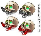 a set of crabs hidden in the... | Shutterstock .eps vector #789271726