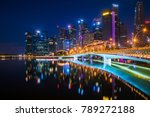 night cityscape of singapore... | Shutterstock . vector #789272188