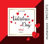 valentines day sale background... | Shutterstock .eps vector #789272572