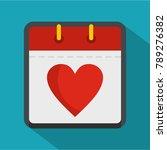 calendar valentine day icon....