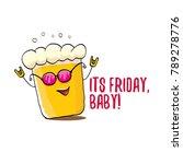 its friday baby vector concept... | Shutterstock .eps vector #789278776