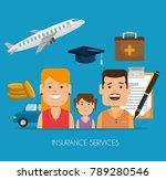 insurance services concept | Shutterstock .eps vector #789280546