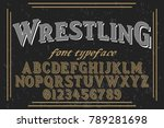 vintage font handcrafted vector ... | Shutterstock .eps vector #789281698