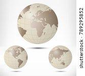 globe vector illustration... | Shutterstock .eps vector #789295852