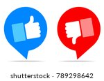 thumbs up and thumbs down ... | Shutterstock .eps vector #789298642