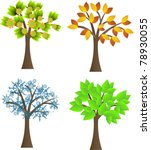 seasonal trees set | Shutterstock .eps vector #78930055