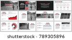 business presentation slides... | Shutterstock .eps vector #789305896