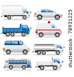 transportation icons real | Shutterstock .eps vector #78931225