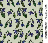 floral seamless pattern.... | Shutterstock .eps vector #789317725