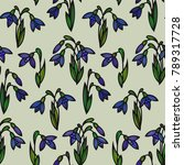 floral seamless pattern.... | Shutterstock .eps vector #789317728