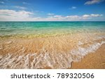 beautiful tropical seascape.... | Shutterstock . vector #789320506
