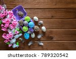 painted easter eggs with... | Shutterstock . vector #789320542
