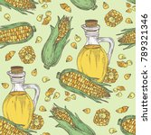 seamless pattern with corn and... | Shutterstock .eps vector #789321346