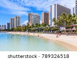 honolulu  hawaii. waikiki beach ... | Shutterstock . vector #789326518
