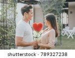 romantic happy asian couple in... | Shutterstock . vector #789327238