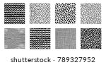 irregular hand drawn patterns... | Shutterstock .eps vector #789327952