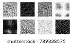 irregular hand drawn patterns... | Shutterstock .eps vector #789338575