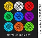 cart wheel 9 color metallic... | Shutterstock .eps vector #789342082