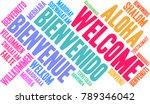 international welcome word... | Shutterstock .eps vector #789346042
