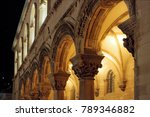 Arched Gallery In An Ancient...