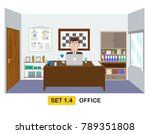 concept of a business man... | Shutterstock .eps vector #789351808